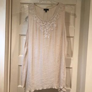 Spense Woman Ivory Embellished Top 1X